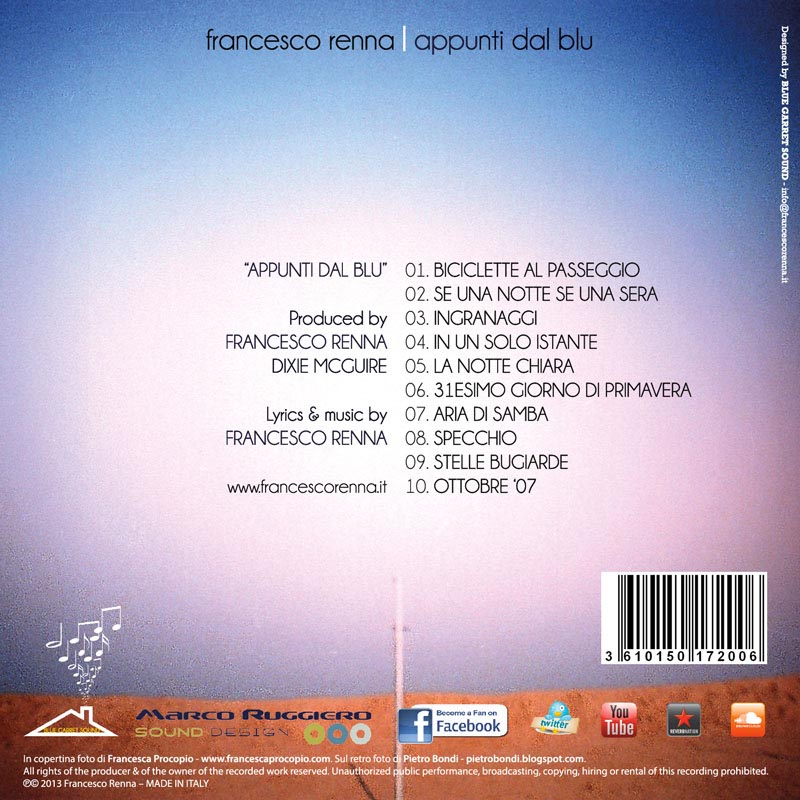 Francesco Renna - Appunti dal blu - Retro