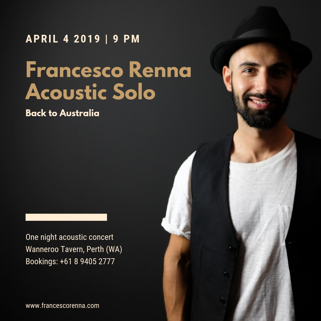 Francesco Renna - Back to Australia