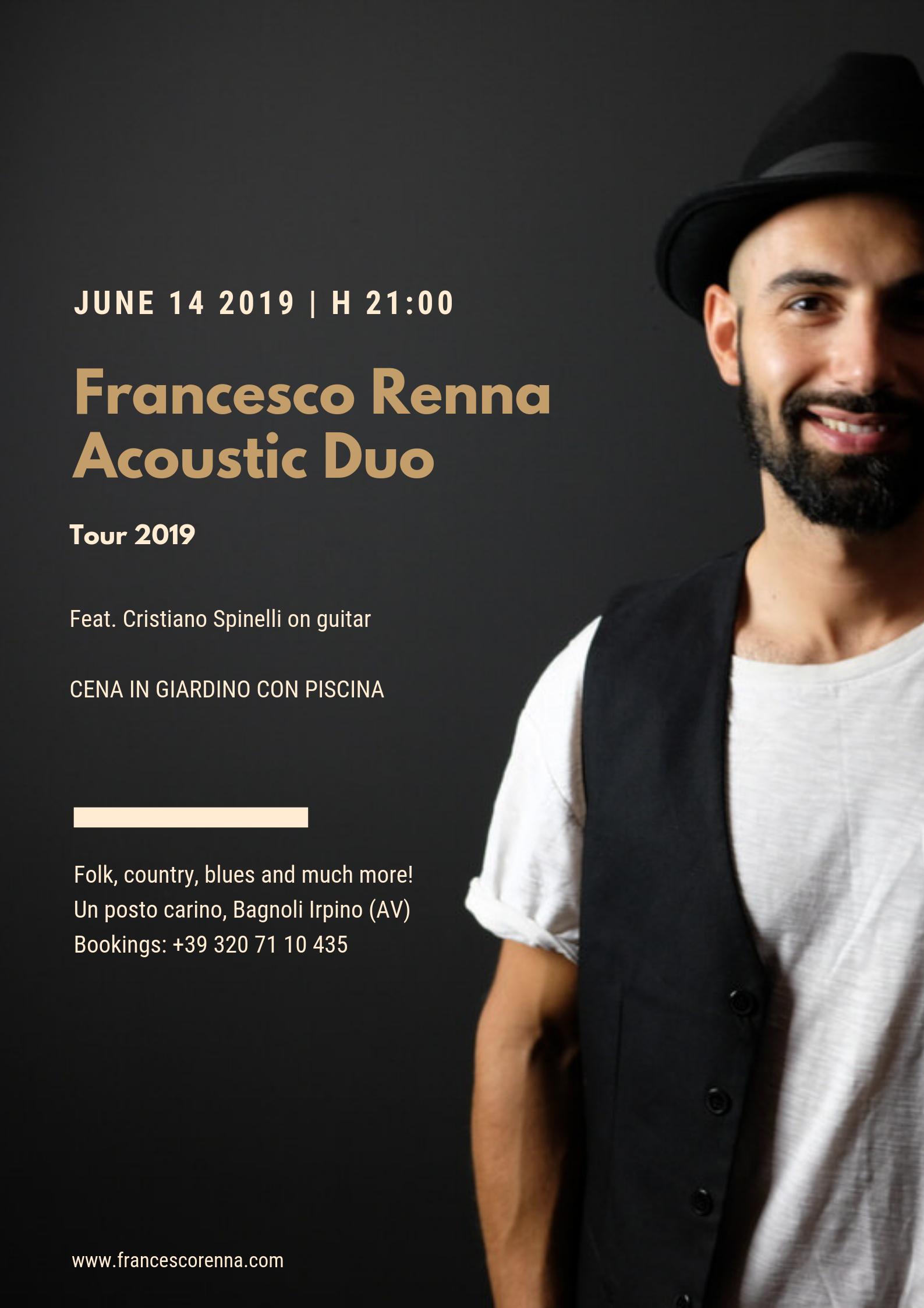 Francesco Renna duo live a Un Posto Carino, Bagnoli Irpino (AV)