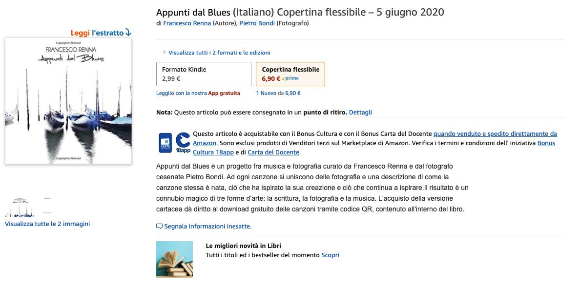 Francesco Renna - Appunti dal Blues - Book