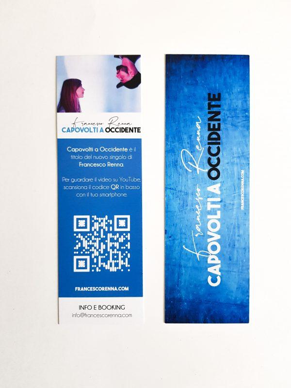 Segnalibro azzurro 17 cm